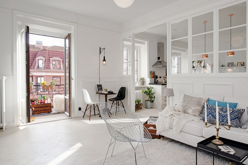 d co scandinave dans un appartement gothenburg. Black Bedroom Furniture Sets. Home Design Ideas
