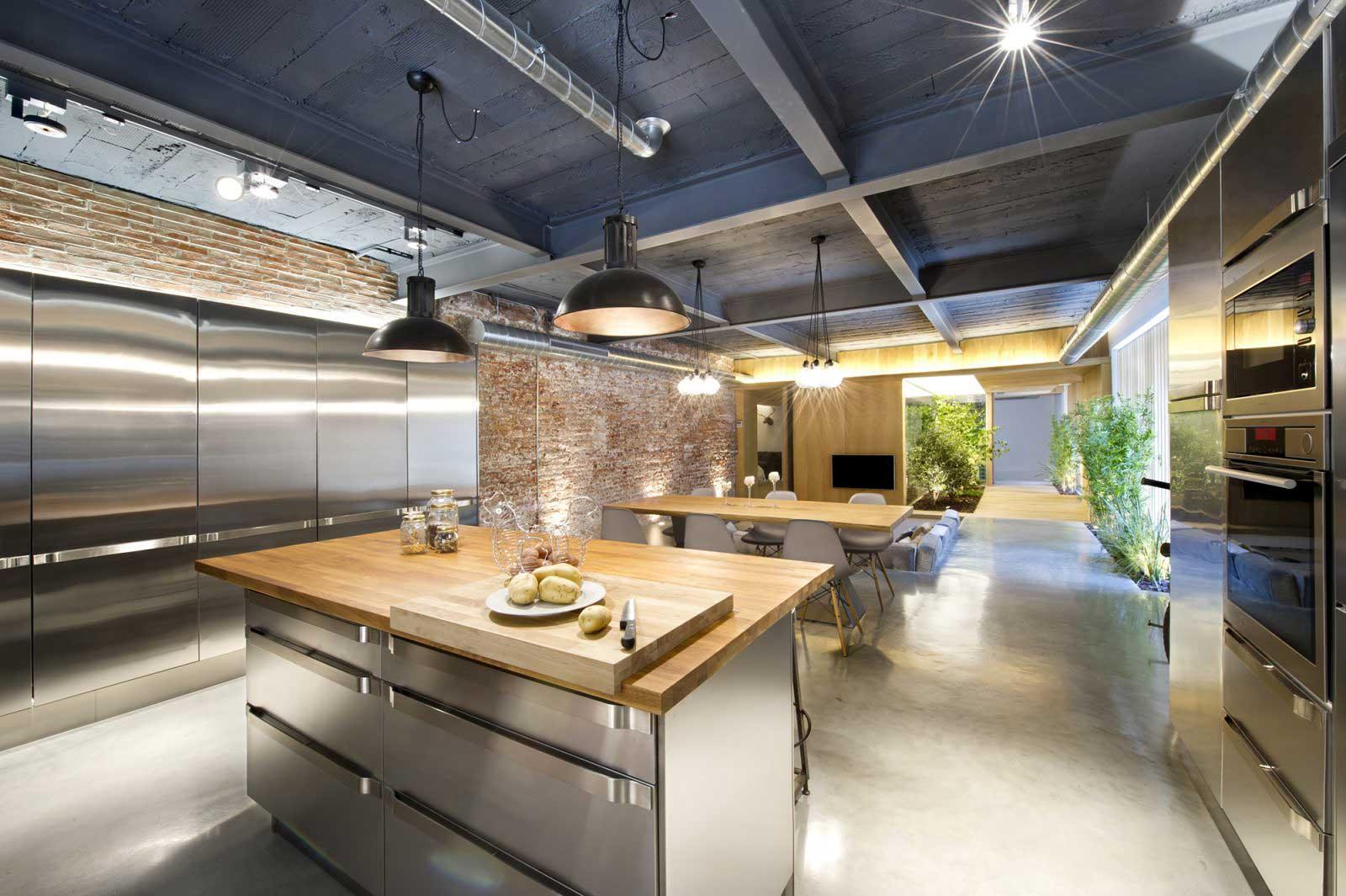 Cuisine industrielle en inox