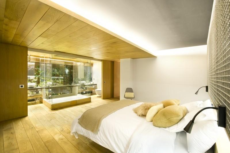 Chambre avec parquet