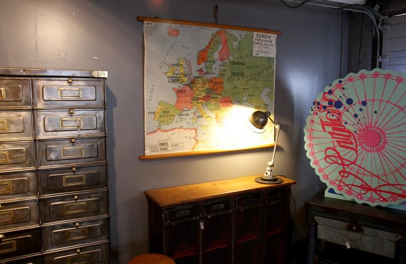 Ancienne carte d'école de l'europe