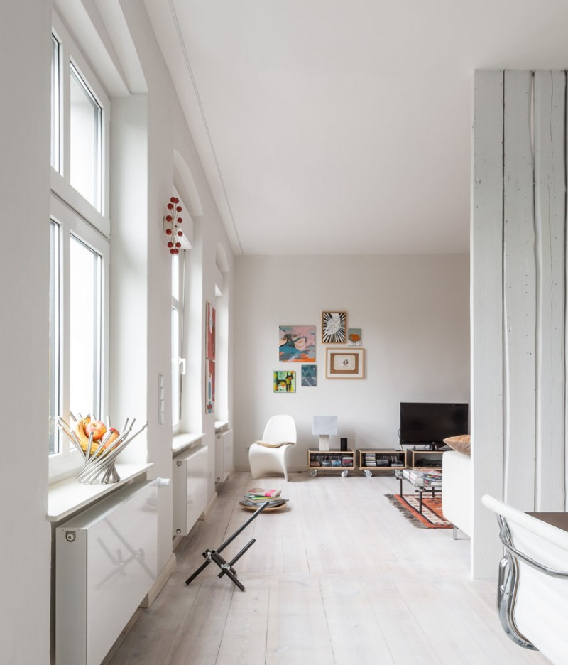 T03 appartement berlin par studio karhard - Parquet peint en blanc ...