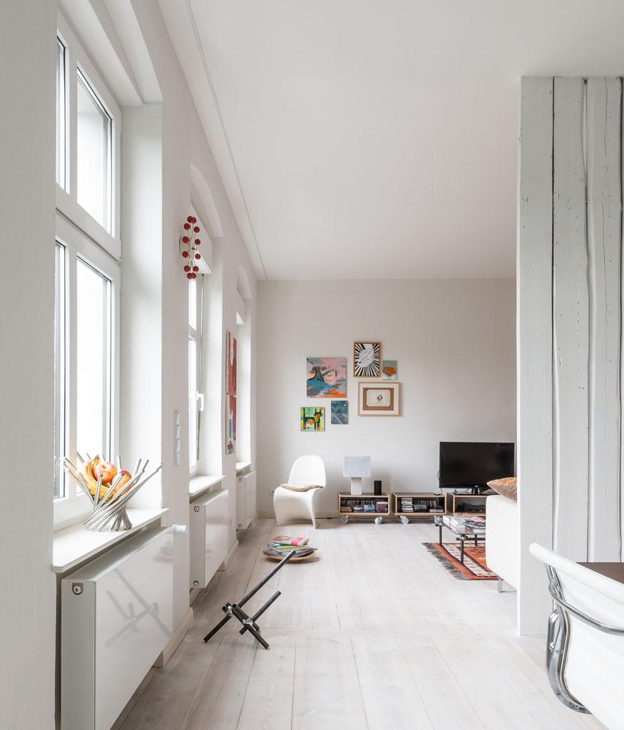 Parquet blanc - Appartement a berlin ...