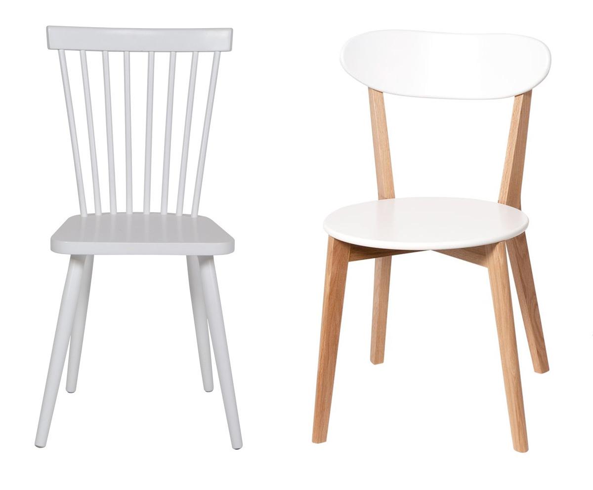 Chaise bois et blanc pour une d co scandinave - Chaises scandinaves bois ...