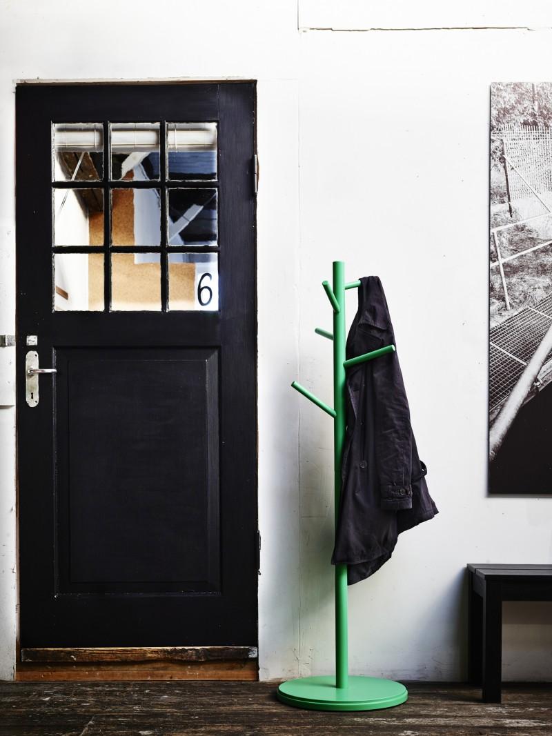 Porte manteaux vert Ikea