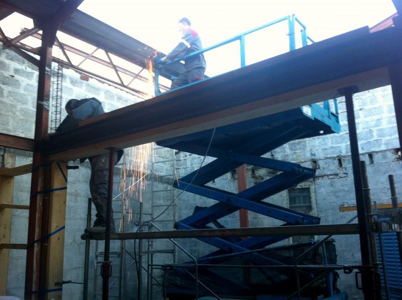 Structure métallique du loft