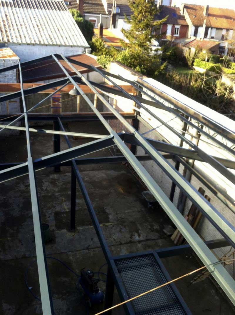 Vue du dessus de la structure du loft