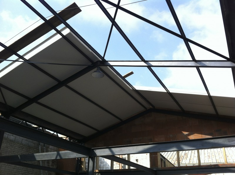 Montage de la toiture en bac acier