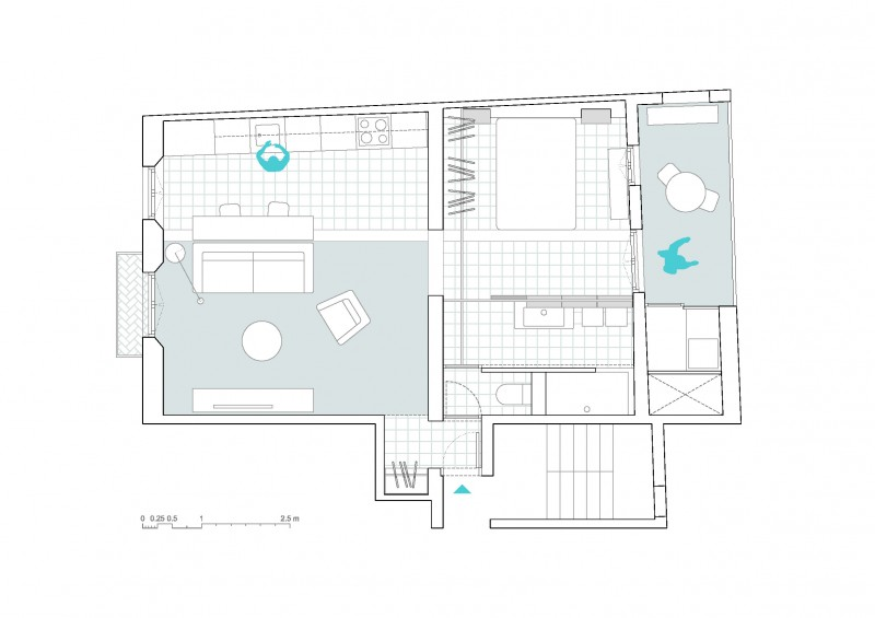 plan appartement barcelone