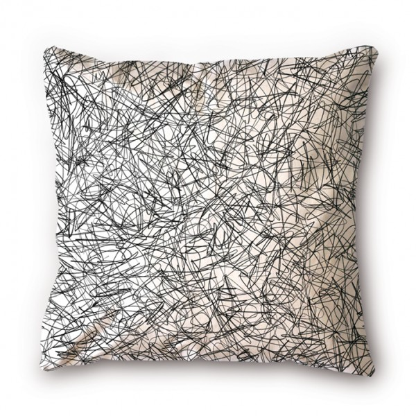 Coussin Oelwein Graphite gribouillage