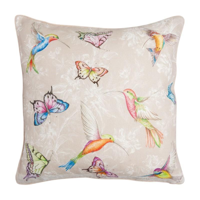 Coussin papillons et oiseaux