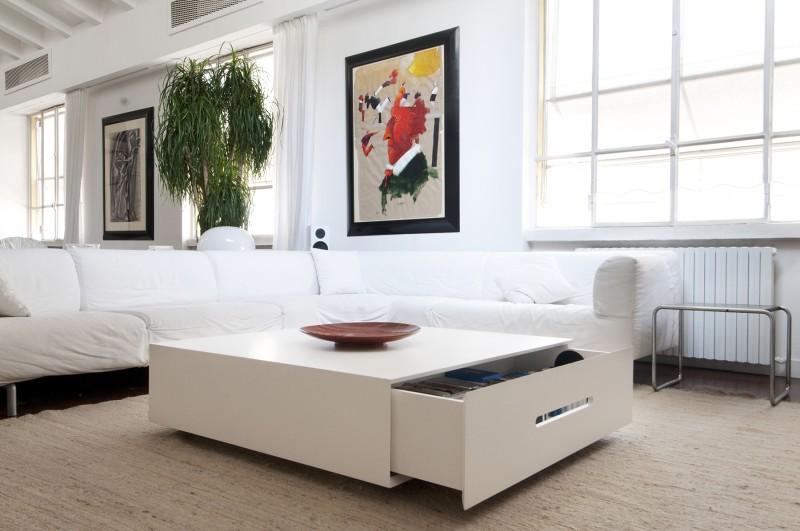 Table basse avec grand tiroir
