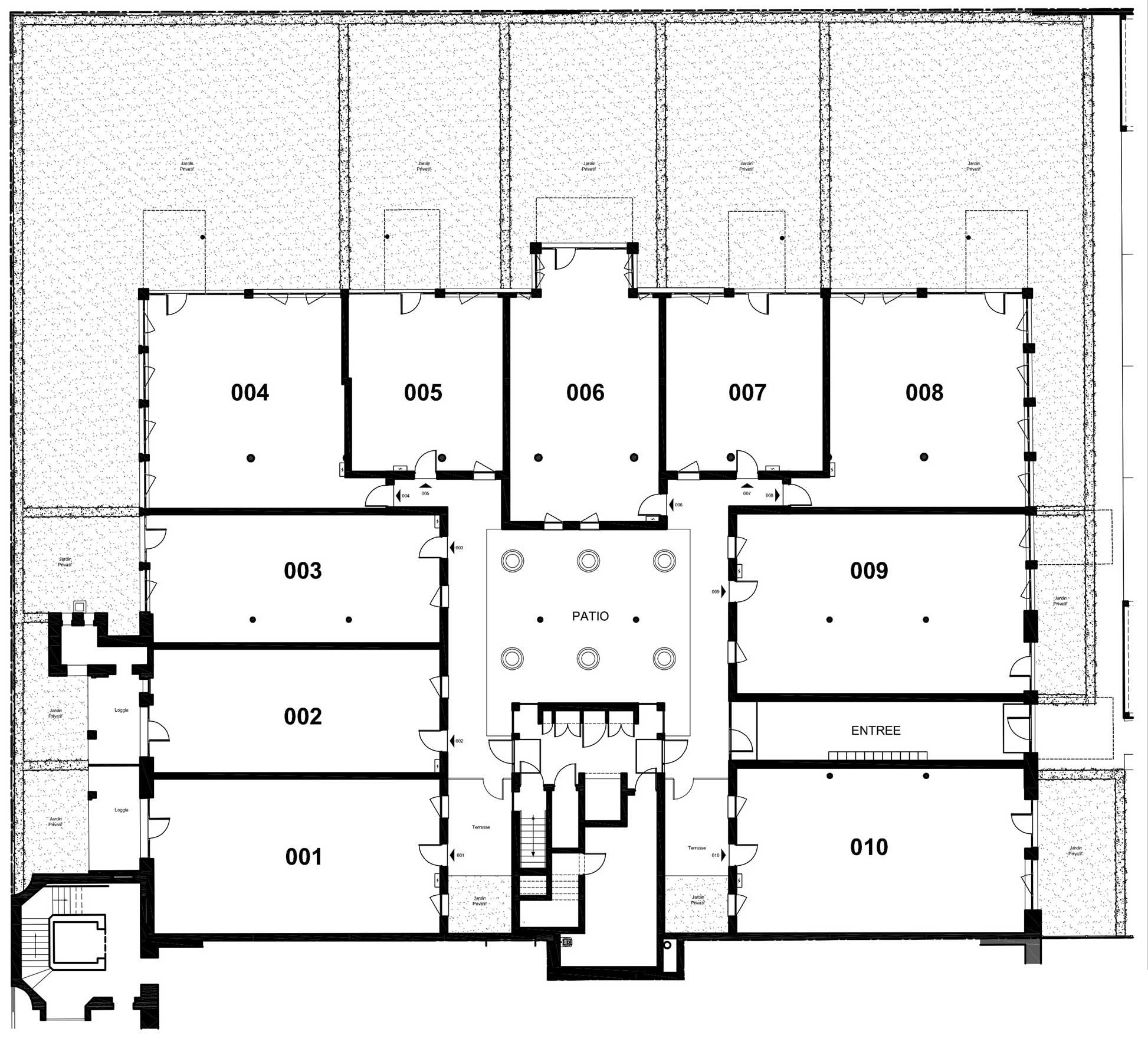 Plan des lofts lille - Le clos du marais lomme ...