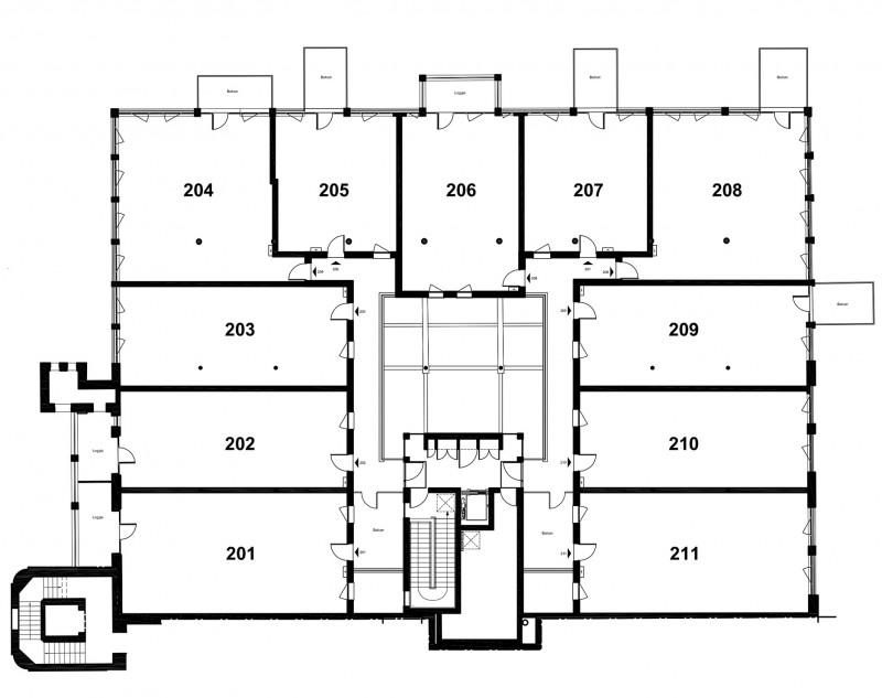 Plan des lofts à Lille
