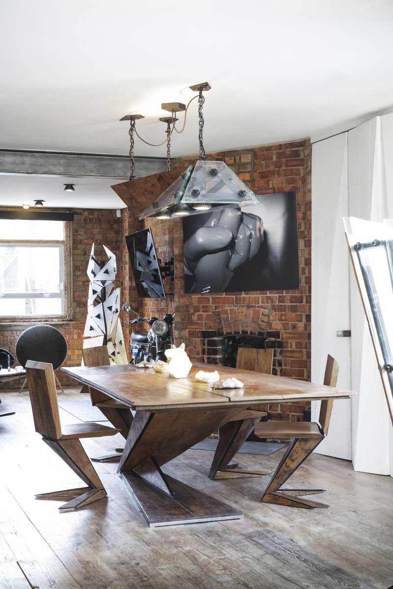 Archer street loft londres par michaelis boyd - Tafel salle a manger loft ...