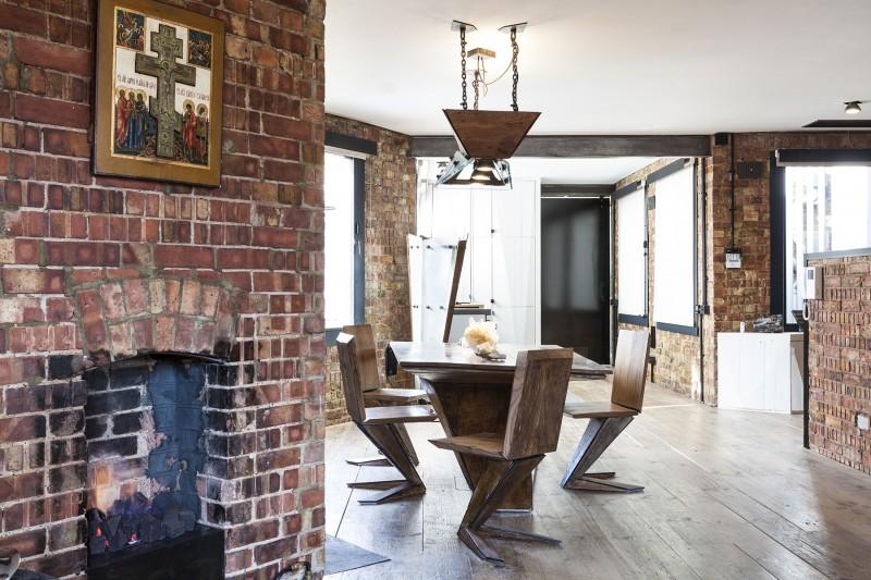 Loft à Londres avec murs en brique