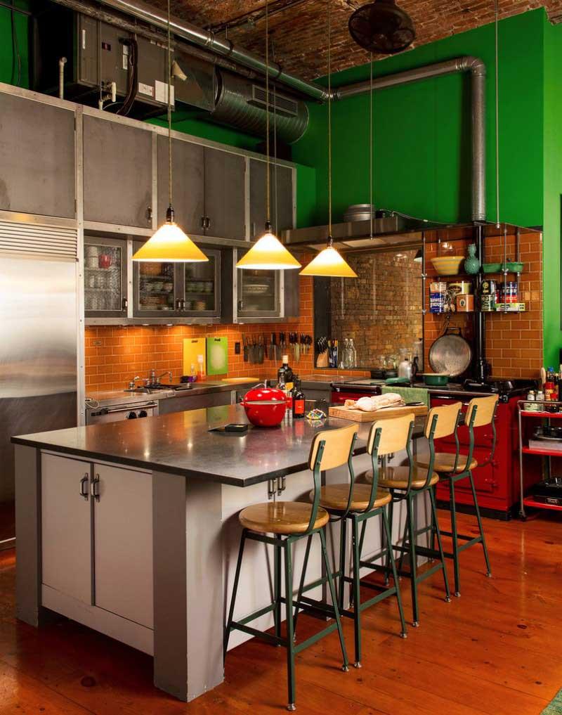loft ultra chaleureux new york. Black Bedroom Furniture Sets. Home Design Ideas