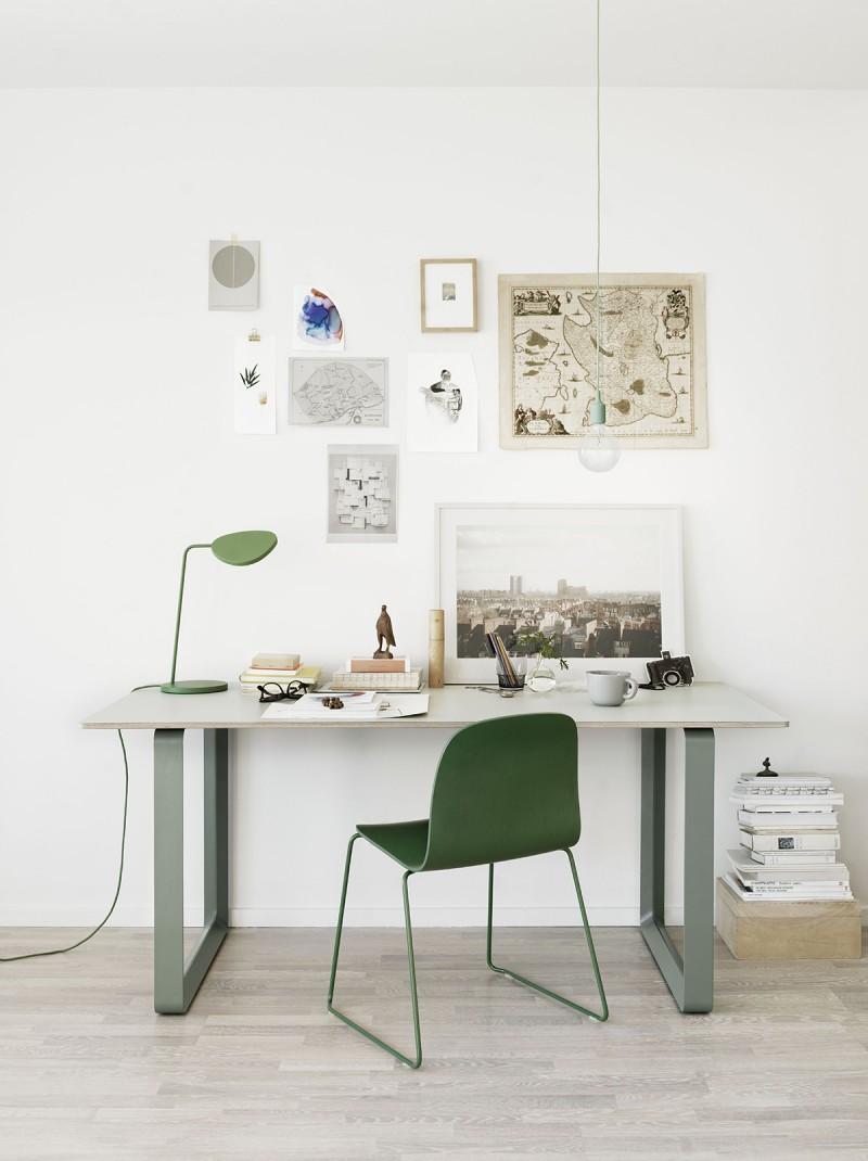 Lampe de bureau Muuto Leaf verte