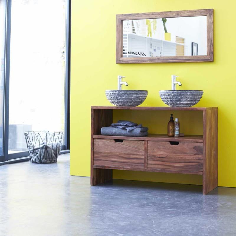 Meuble de salle de bains en teck Tikamoon
