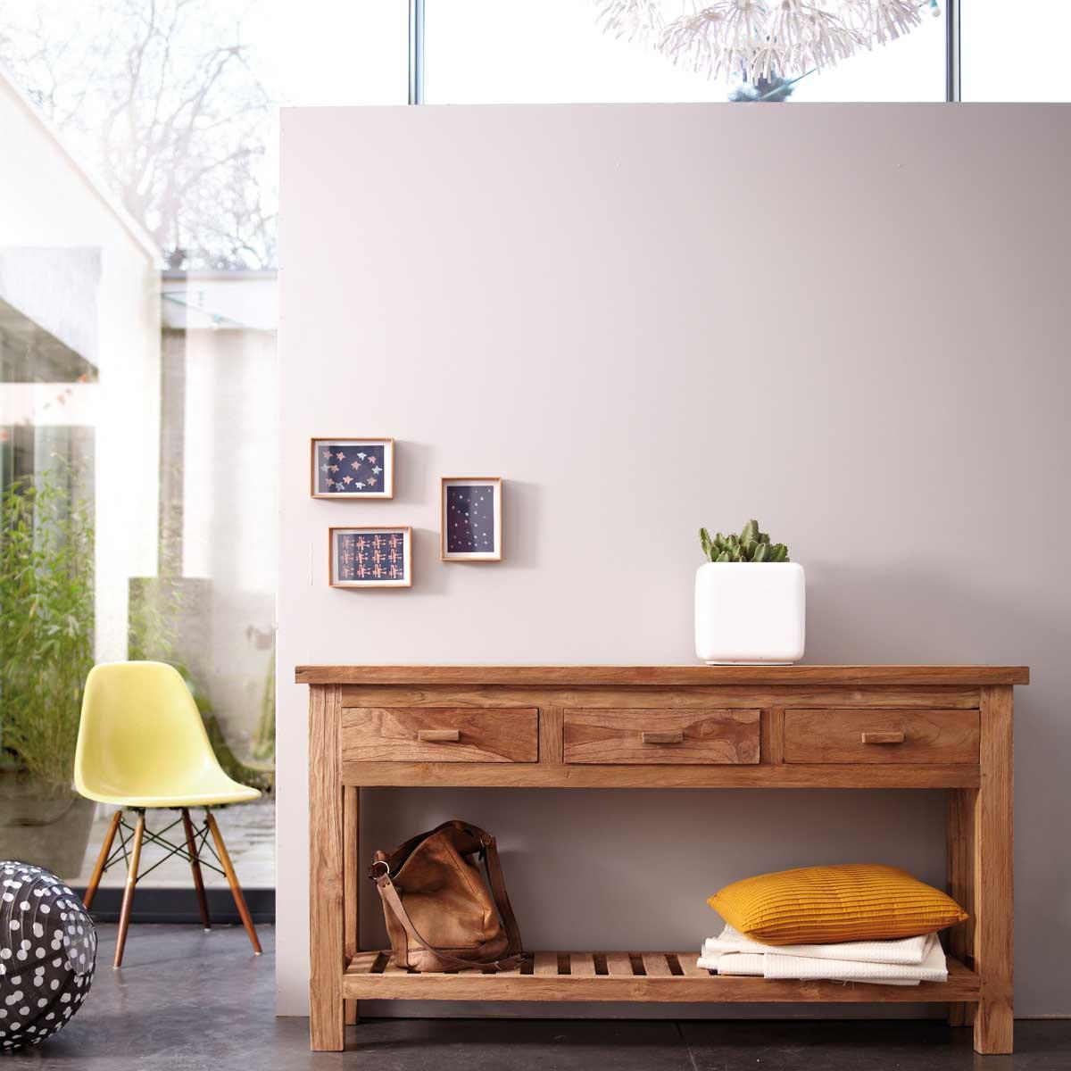 console en teck tikamoon. Black Bedroom Furniture Sets. Home Design Ideas
