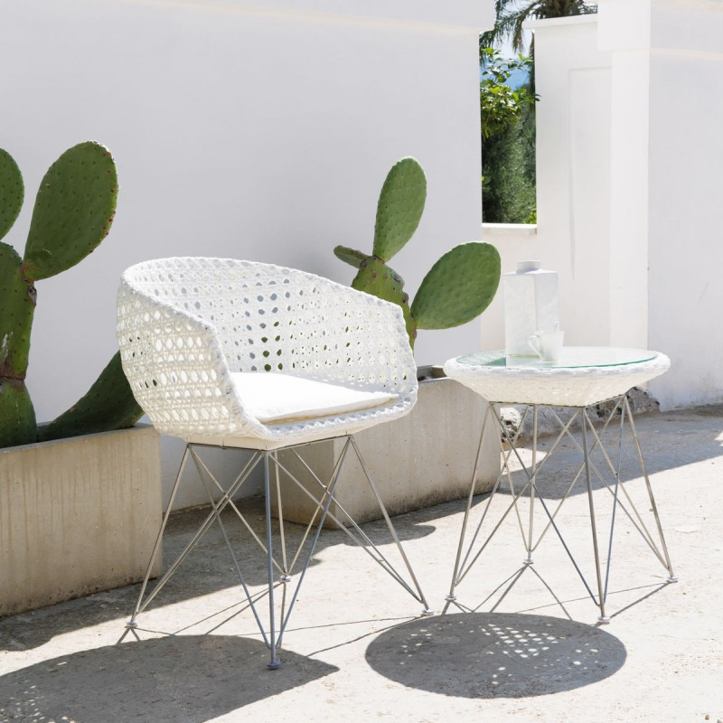 Awesome Table De Jardin Tresse Blanc Contemporary - Amazing House ...