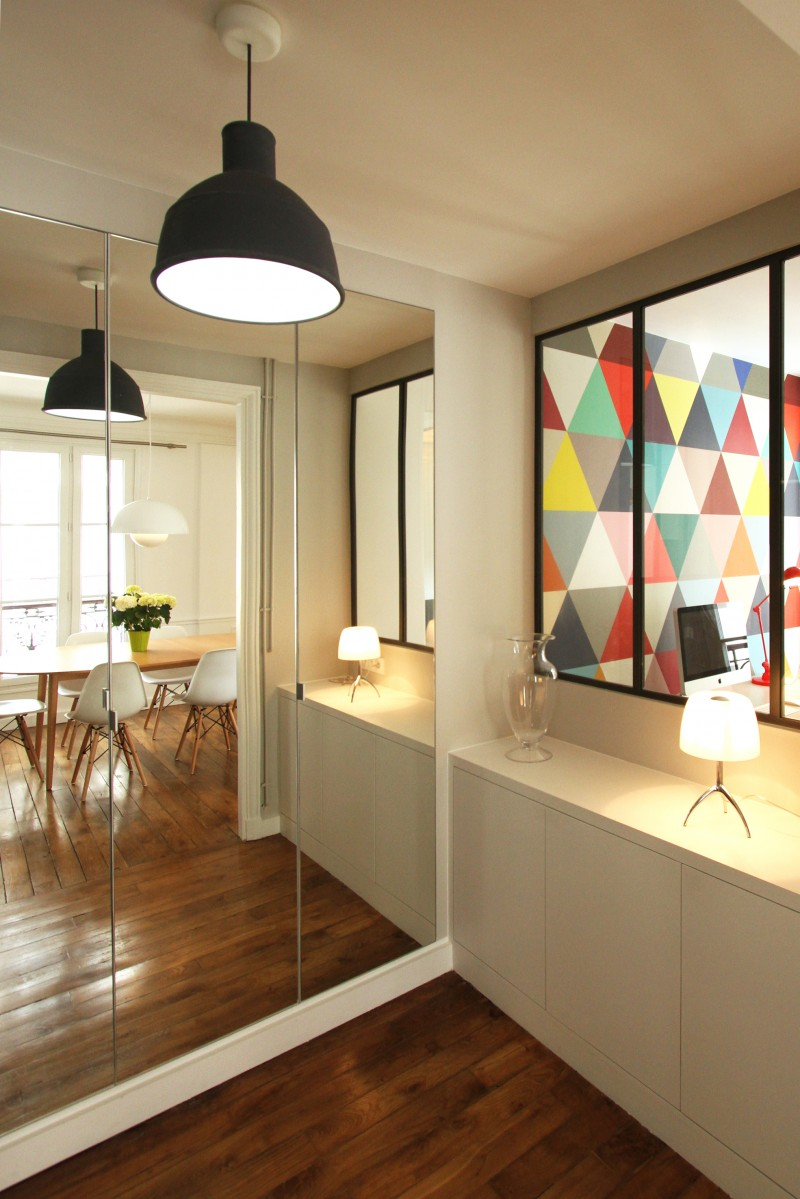 R novation d 39 un appartement haussmannien par camille hermand - Decoration interieur appartement 2 pieces ...