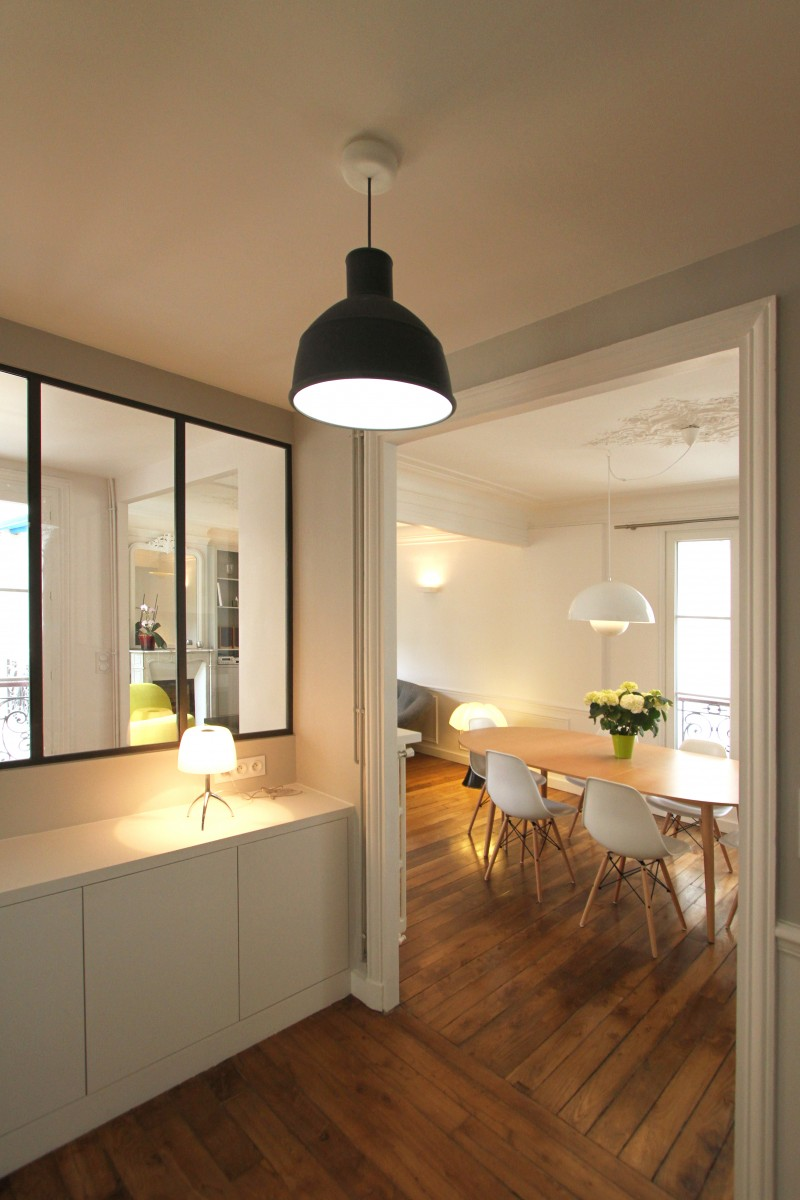R novation d 39 un appartement haussmannien par camille hermand for Decoration interieur haussmannien