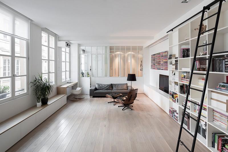 Loft avec parquet à Paris