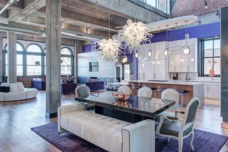 Loft éclectique à Saint Louis par S&K Interiors