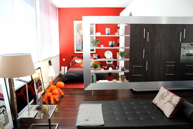 Chambre ouverte sur le séjour