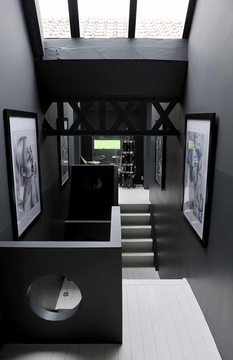 Cage d'escalier moderne