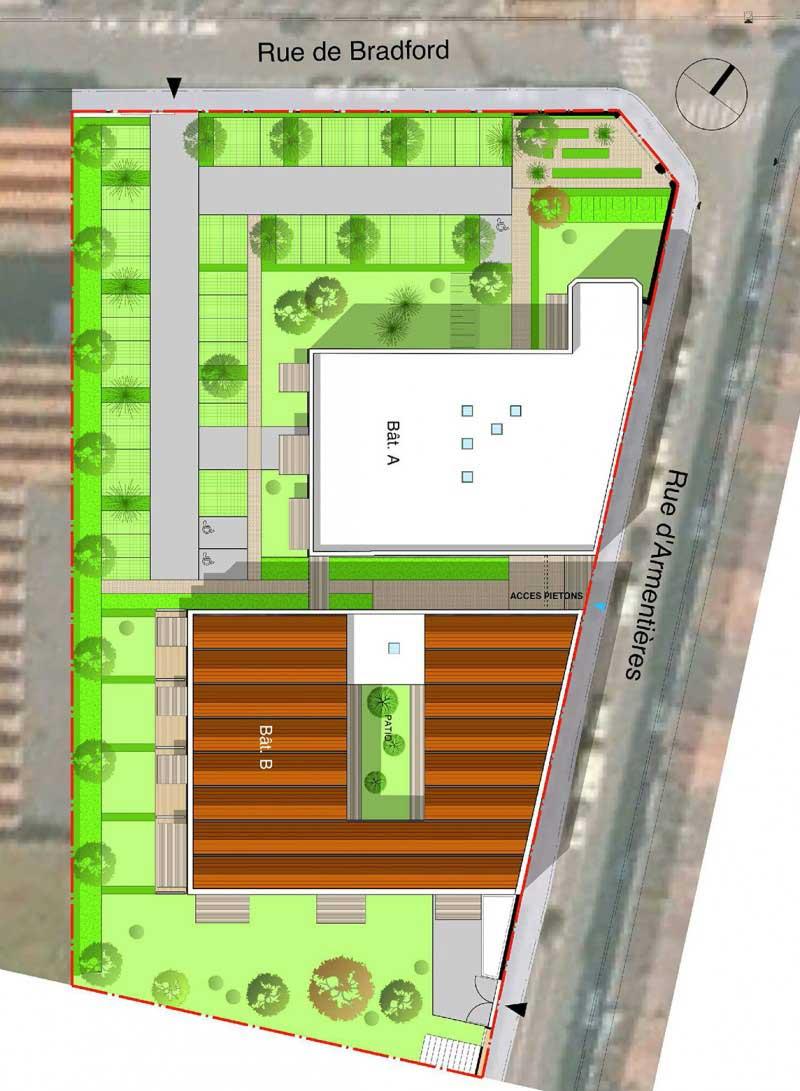 La r sidence bradford 69 lofts dans une ancienne usine for Plan de loft