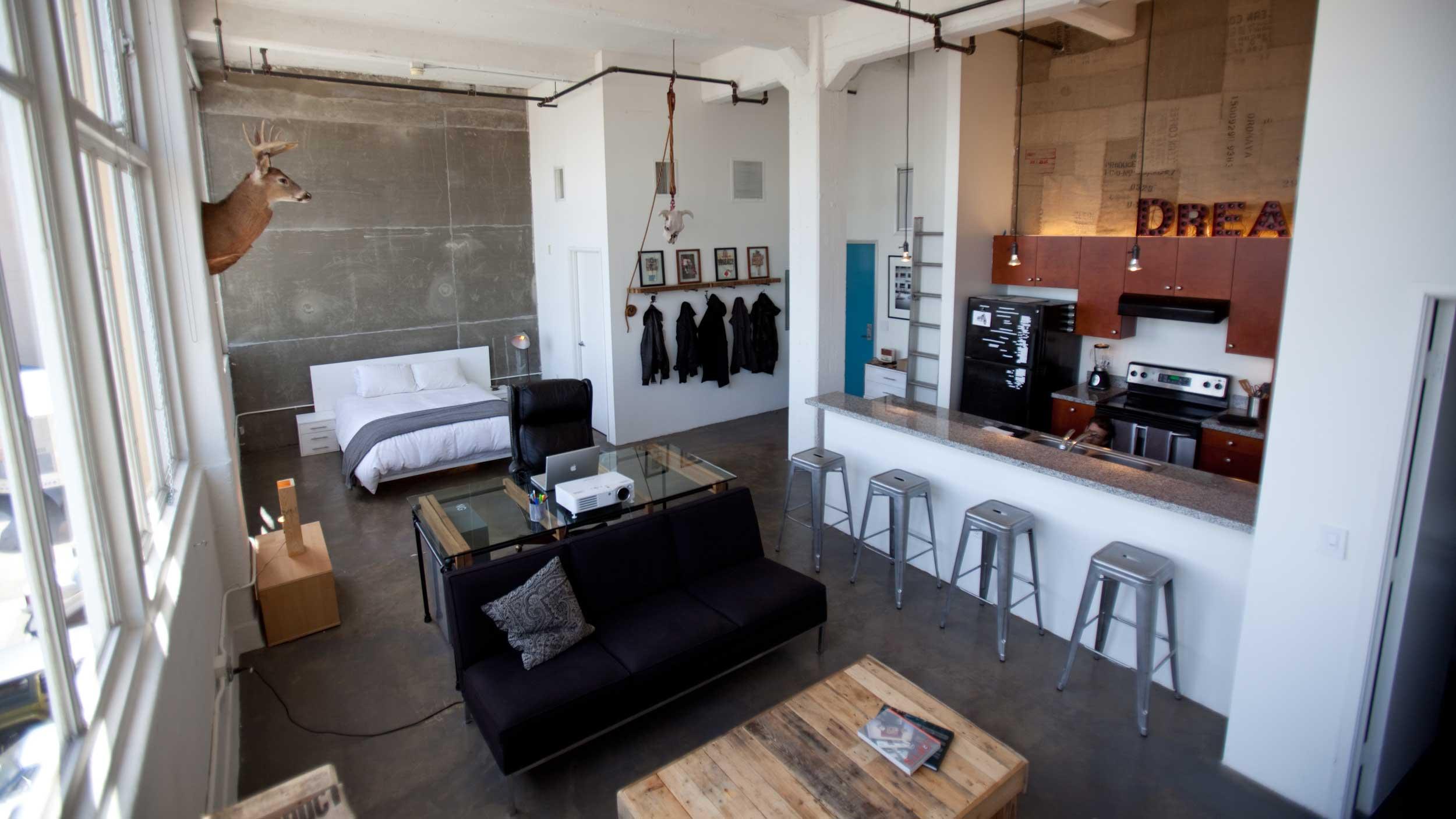 Loft avec chambre ouverte for Chambre loft