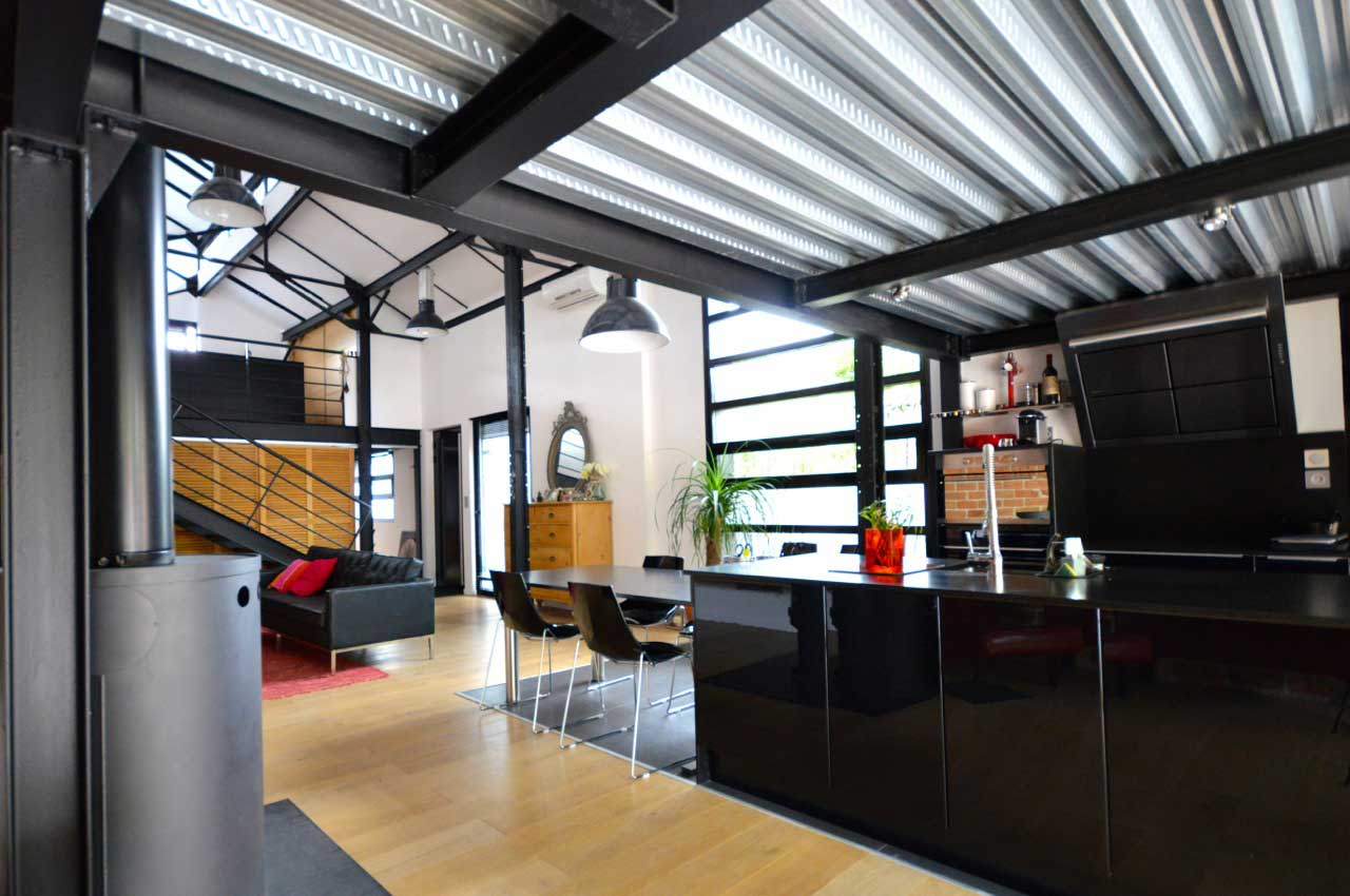 interieur loft industriel stunning rnovation loft montreuil architecte duintrieur paris grazia. Black Bedroom Furniture Sets. Home Design Ideas