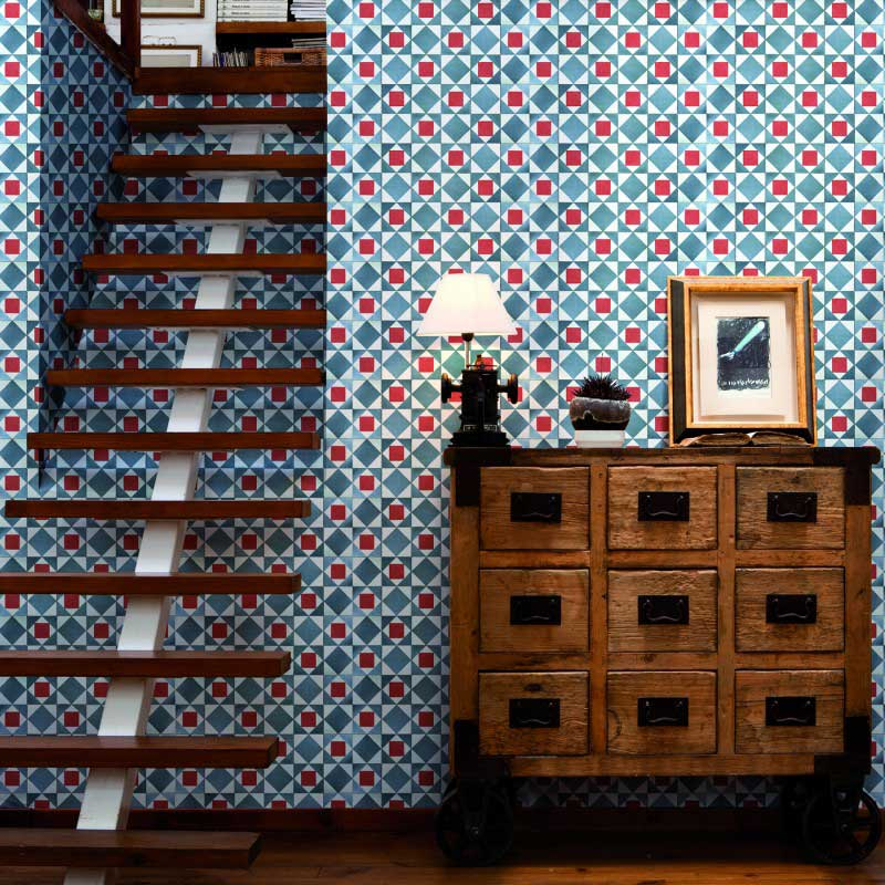 23 papiers peints motifs carreau de ciment. Black Bedroom Furniture Sets. Home Design Ideas