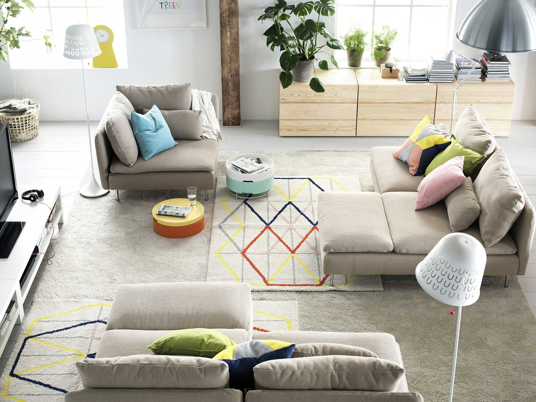 32 ambiances du catalogue ikea 2015 for Ikea living room design ideas