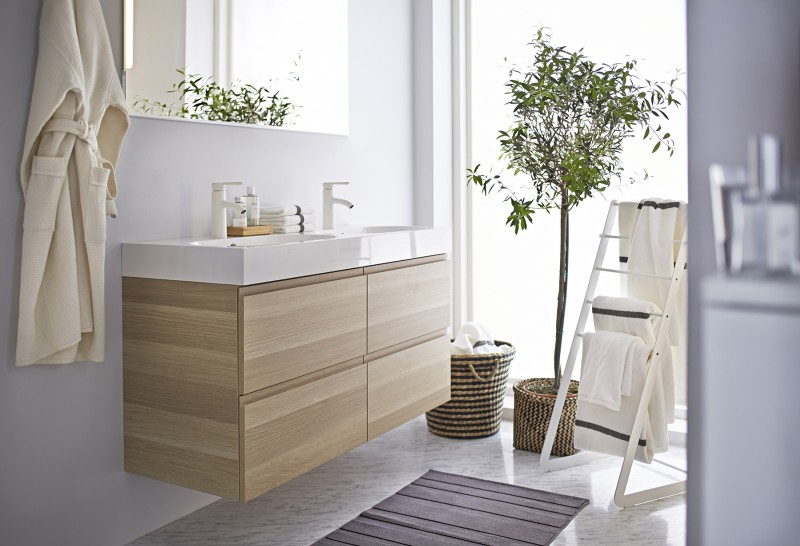 32 ambiances du catalogue ikea 2015 - Ikea tablette salle de bain ...