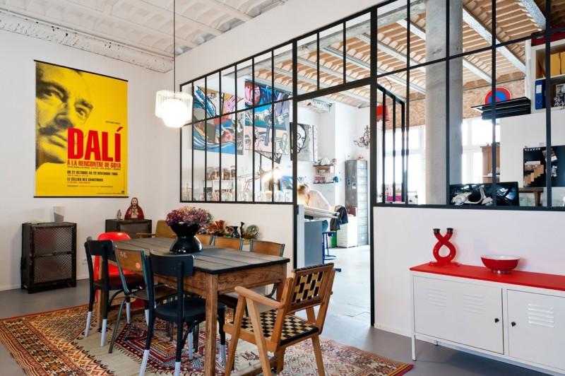 Loft avec verrière d'atelier à Bordeaux