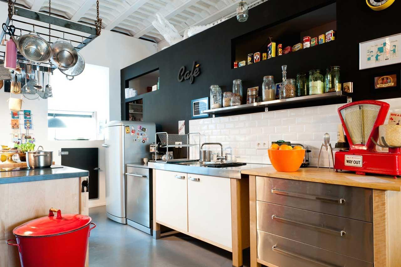 Cuisine avec mobilier libre - Lofts et associes bordeaux ...