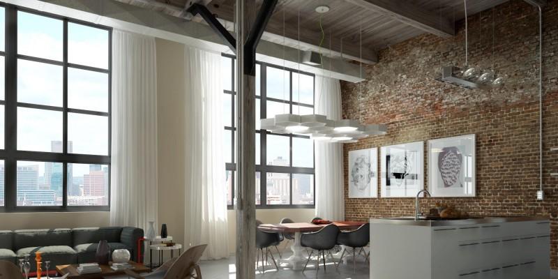 chambre loft industriel 33 lofts industriels crs avec un logiciel de rendu 3d - Chambre Loft Industriel