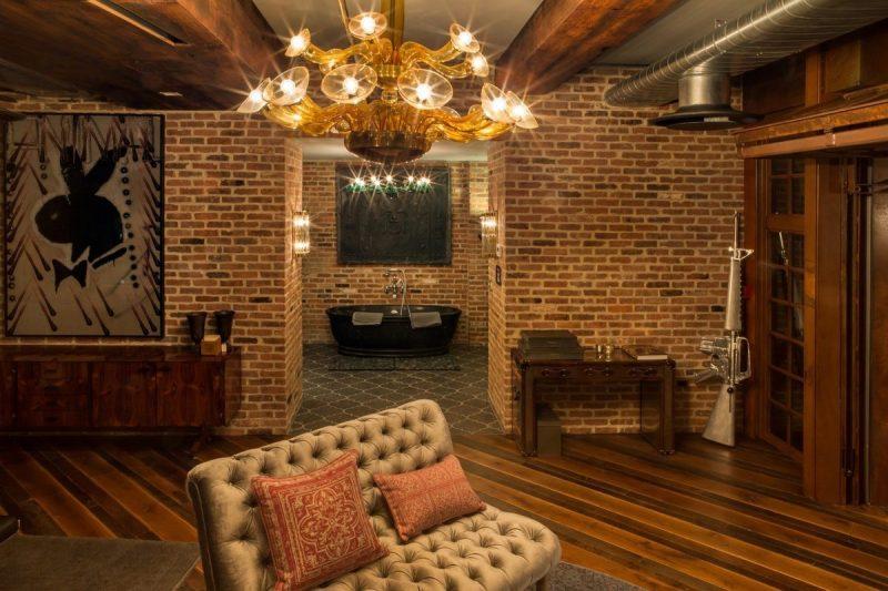 Lustre murano dans un loft