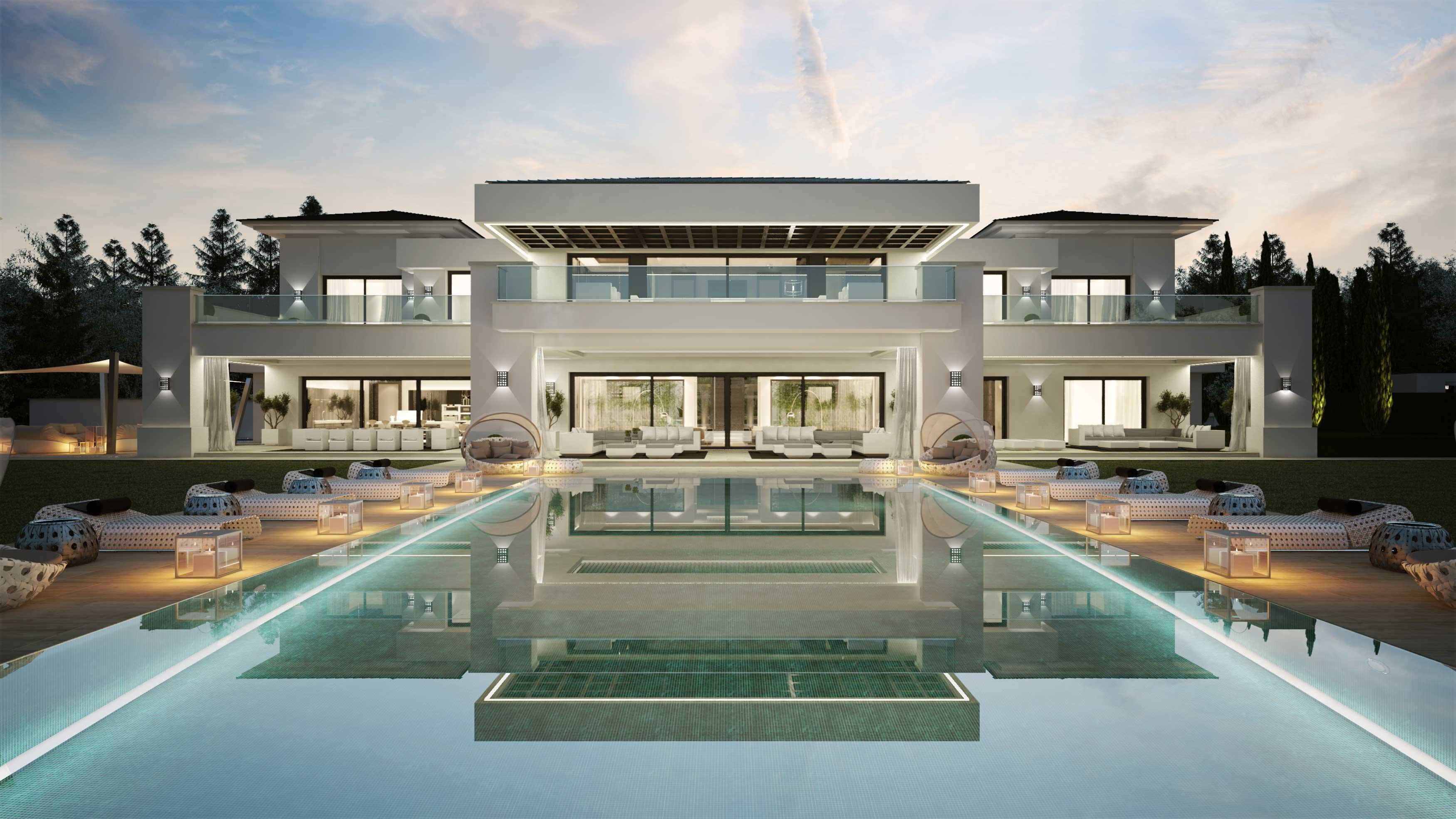 Maison avec piscine en espagne for Maison moderne piscine