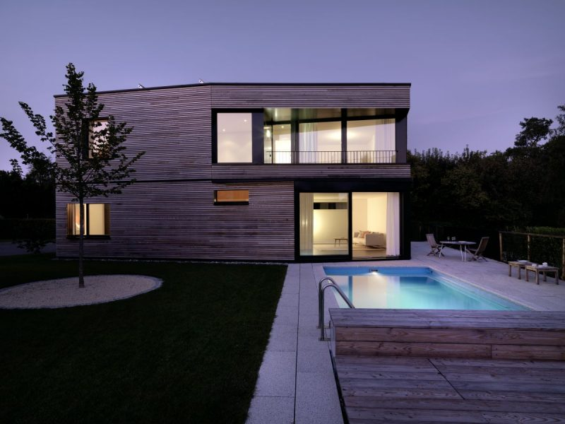 Awesome Maison Moderne En Bois Avec Piscine Pictures - House Design ...