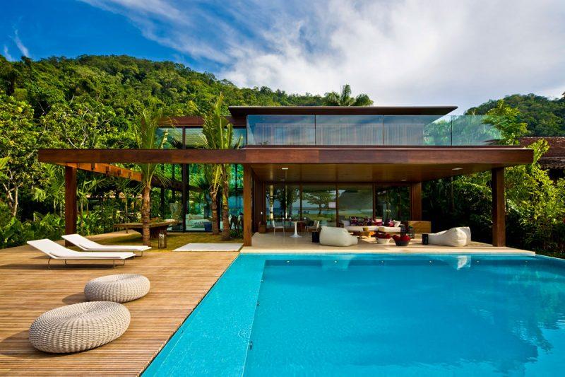 26 maisons de r ve avec piscine for Fotos de casas modernas brasileiras