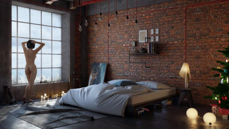 chambre la d co industrielle. Black Bedroom Furniture Sets. Home Design Ideas