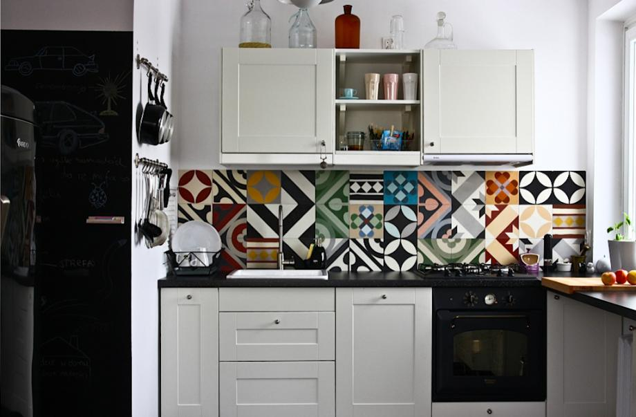 credence carreaux de ciment. Black Bedroom Furniture Sets. Home Design Ideas