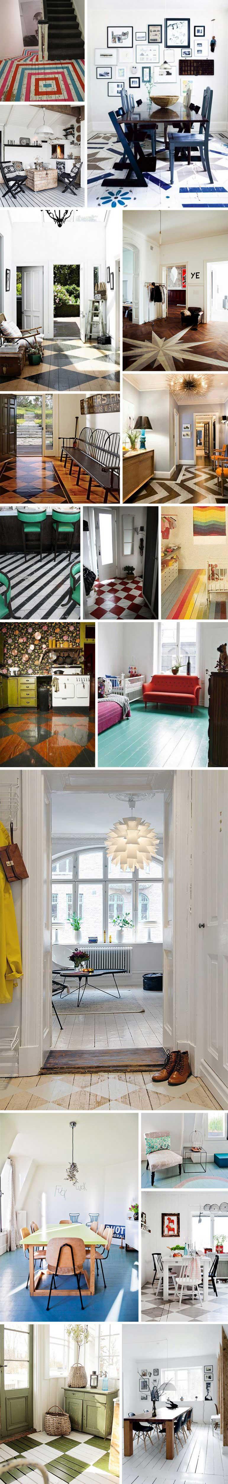 Id es d co originales de planchers peints - Idees deco originales ...