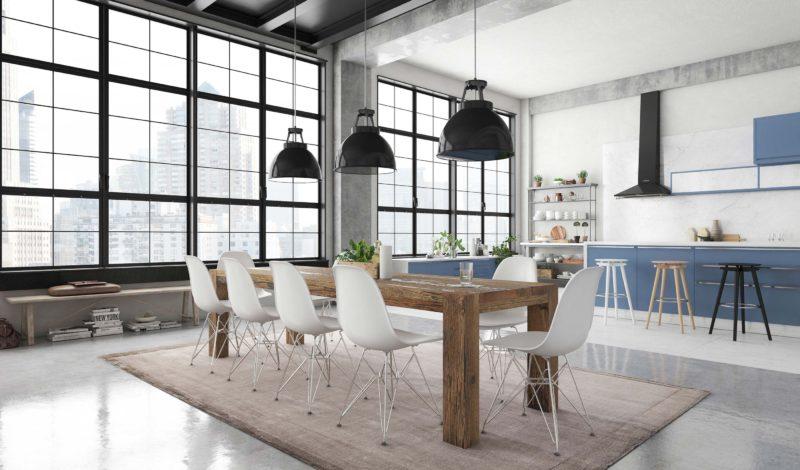 Loft avec chaises Eames