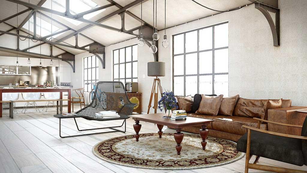loft charpente m tal. Black Bedroom Furniture Sets. Home Design Ideas