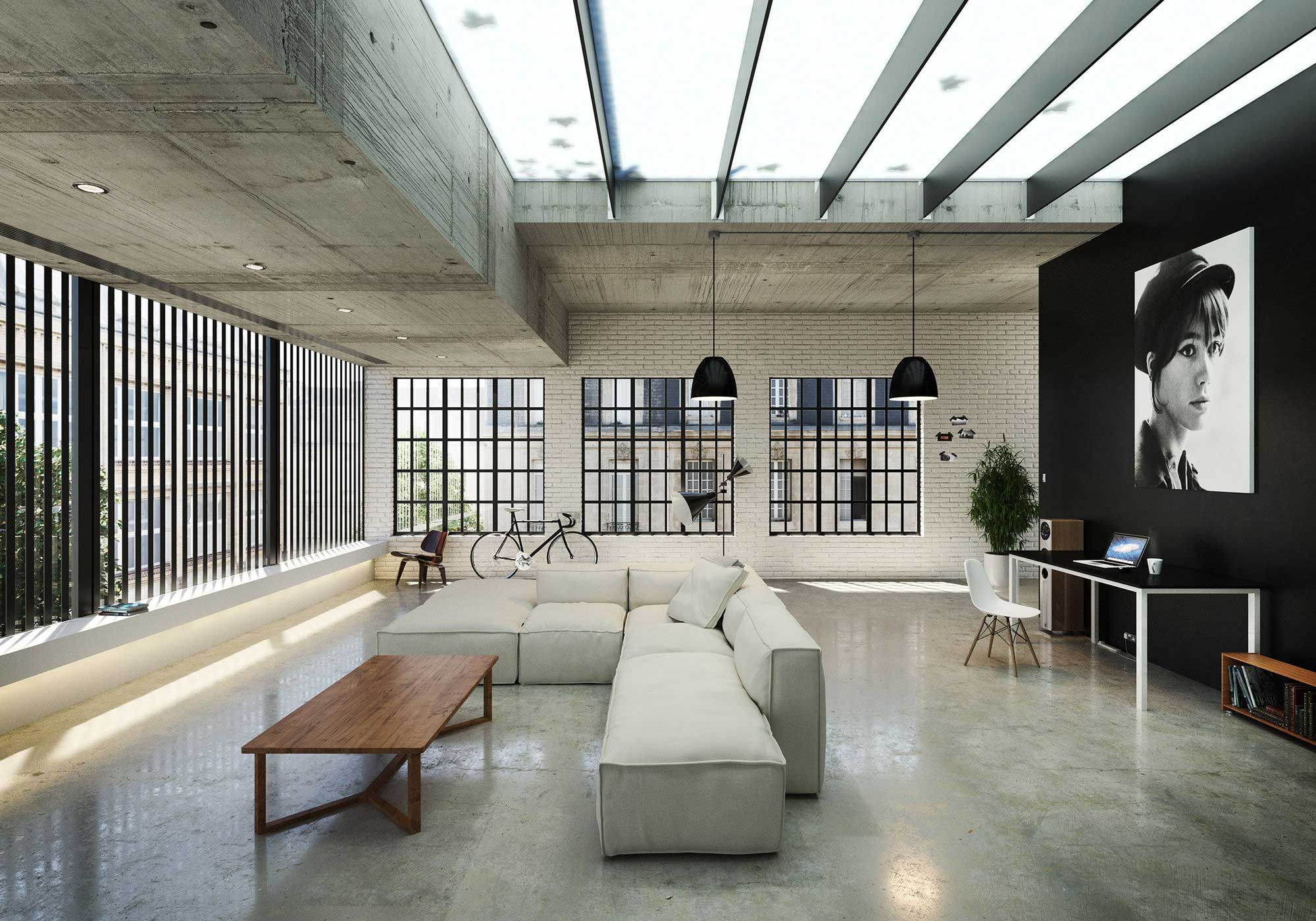 50 lofts industriels créés avec un logiciel de 3D