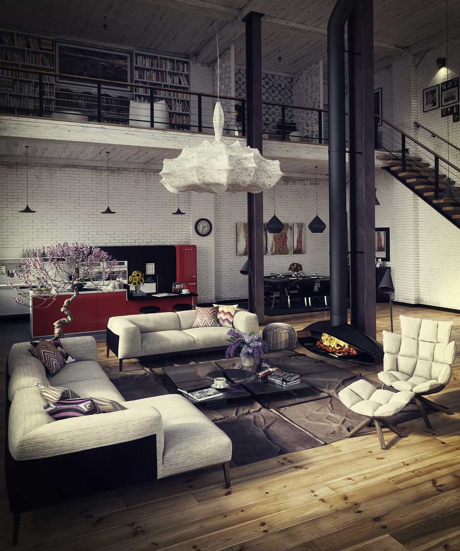 loft cr avec un logiciel de d co 3d. Black Bedroom Furniture Sets. Home Design Ideas